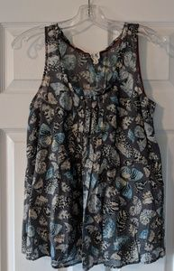 Anthropologie butterfly tank top